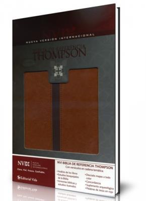 Biblia de referencia Thompson NVI, dos tonos Marrón, café (Imitación piel )