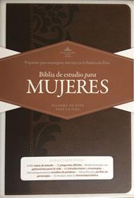 Biblia De Estudio Para Mujeres - Chocolate - Con Índice