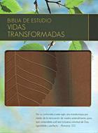Biblia de estudio vidas transformadas (Piel) [Biblia]
