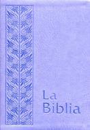 Biblia flexible lila plateada