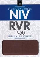 Biblia Bilingue - Marron (Piel Italiana)