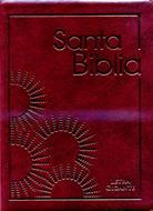 Biblia Tamaño 85 Letra Gigante Flexible Con Indice Cierre Vino-tinto
