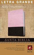 Biblia Edición Personal Letra Grande Indice Rosa-Café