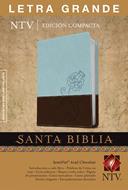 Biblia Edición Compacta  Letra grande Azul-Chocolate (Piel )