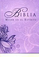 Biblia Mujer En El Espíritu - Tapa Dura Flores-Lila