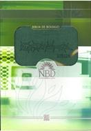 Biblia Bolsillo Compacta Piel Elaborada Verde