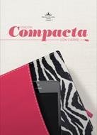 Biblia Compacta Cierre Fucsia Cebra (Imitación Piel )