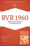 Bibli a- Letra Grande-Manual-Referencias-Naranja Floral (Imitacion Piel )