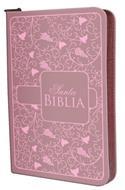 Biblia Económica Letra Grande Con Cierre Rosada