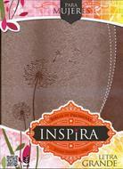 Biblia De Promesas Inspira Letra Grande Piel Especial Rosada