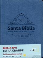 Biblia/NVI/Bolsillo/Letra Grande/C Italiano/Palabras De Jesus En Rojo/Azul