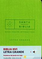 Biblia/NVI/Bolsillo/Letra Grande/C Italiano/Palabras De Jesus En Rojo/Verde