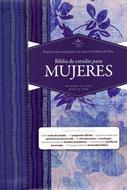Biblia De Estudio Para Mujer -Azul Floreado