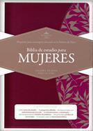 Biblia De Estudio Para Mujer - Vinotinto / Fucsia Con Indice