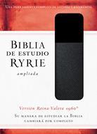 Biblia De Estudio Ryrie Ampliada Dúo Tono Negro