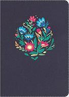 Biblia Compacta Letra Grande Azul Bordado Sobre Tela