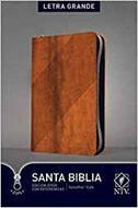 Biblia Edición Ziper Imitación Piel Cafe