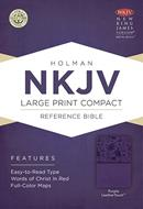 Biblia NKJV Letra Grande Compacta Violeta Ingles (Flexible Imitacion Piel Violeta) [Bíblia]