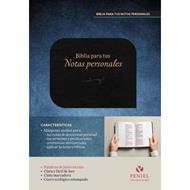 Biblia Para Tus Notas Personales - Negro (Cuero ecológico) [Biblia]