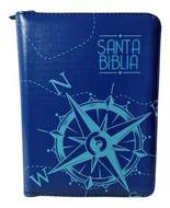 Biblia Tamaño 025 Azul Barco