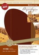 Biblia NVI arqueológica, cuero europeo, vino/café