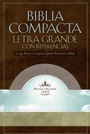 Biblia compacta letra grande con referencias (Rosada)