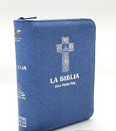 Biblia Version Popular DHH025KZ Azul Canto Plateado (Flexible Con Cierre color Azul) [Bíblia]