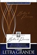Biblia De Promesas-RVR60-Letra Grande-Cafe-Indice (Imitacion Piel )