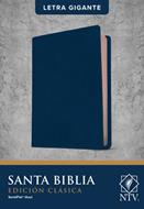 Biblia NTV Letra Gigante Edicion Clasica Sentipiel Azul (Flexible Imitacion Piel Azul) [Bíblia]