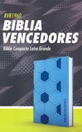 Biblia RVR60  Vencedores/Azul/Simil Piel (Flexible Imitacion Piel Azul Decorado Futbol) [Bíblia]