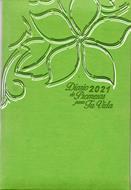 Agenda Diario De Promesas 2021 Mujer Verde Pera (Imitacion piel )