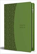 Biblia RVR 1960/Letra Grande/Imitacion Piel Verde/Con Cremallera