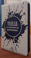 Biblia RVR60/Forro Cierre/Blanco-Negro/La Verdad Para Las Generaciones