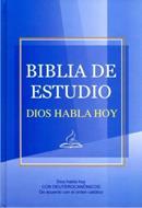 Biblia estudio con deuterocanonicos azul tapa dura