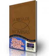 La biblia de las promesas edición en poliuretano marrón