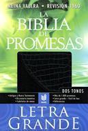 Biblia de las promesas negra/croc (Piel fabricada) [Biblia]
