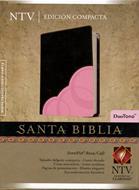 Santa biblia NTV edición compacta duo tono rosa/café