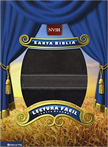 Biblia Lectura Facil-NVI-Letra Grande-Gris-Azul