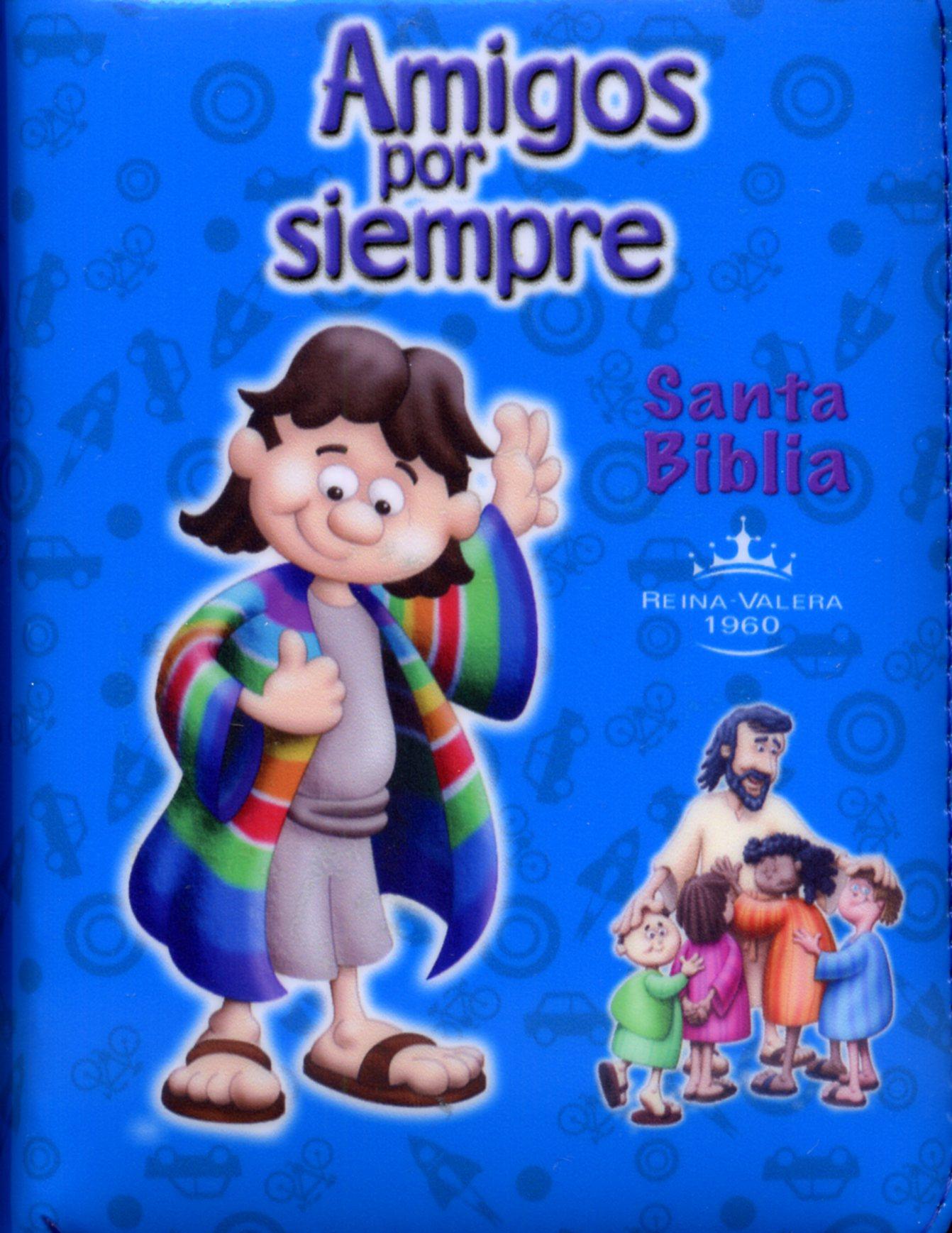 Biblia Amigos Por Siempre Forrada Azul