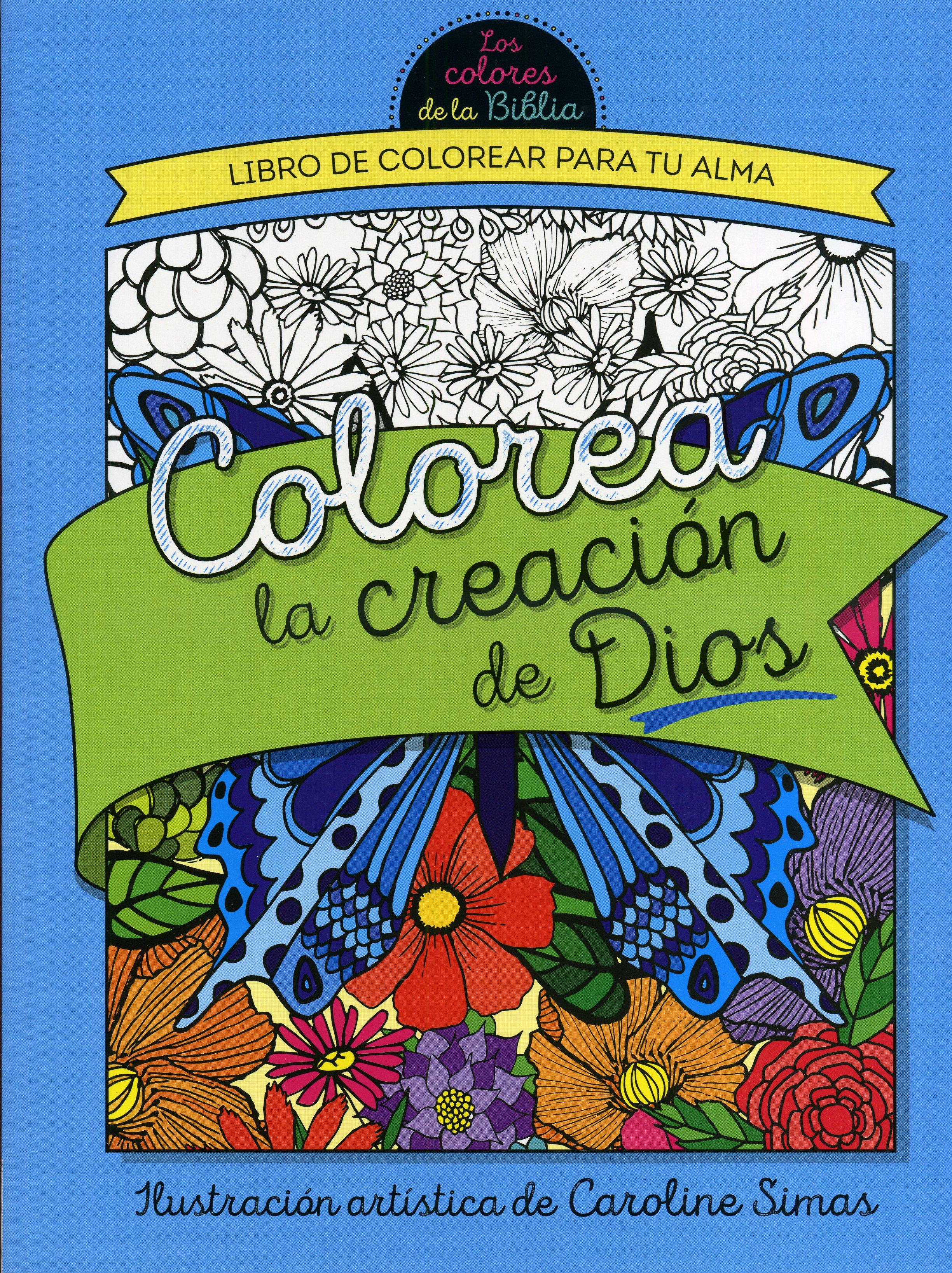 Colorea La Creación de Dios: Libro de Colorear para Adultos ...