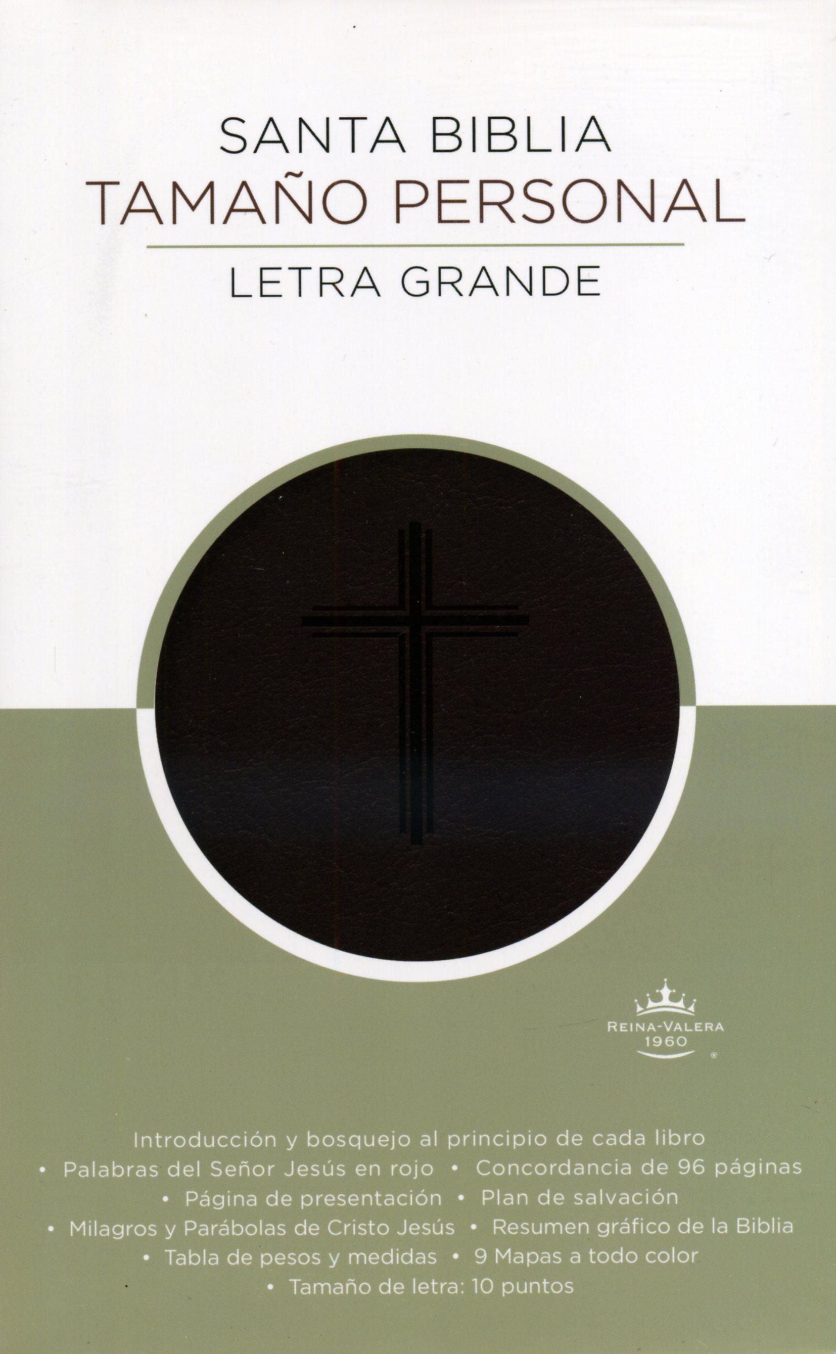 Biblia Letra Grande Piel Italiana Marron Edicion Especial ...