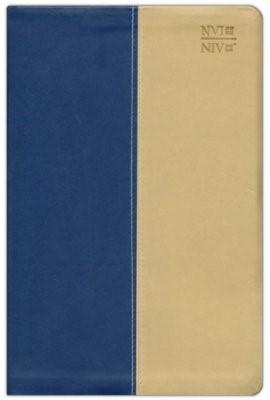 Biblia Bilingue Dos Tonos Azul-Beige