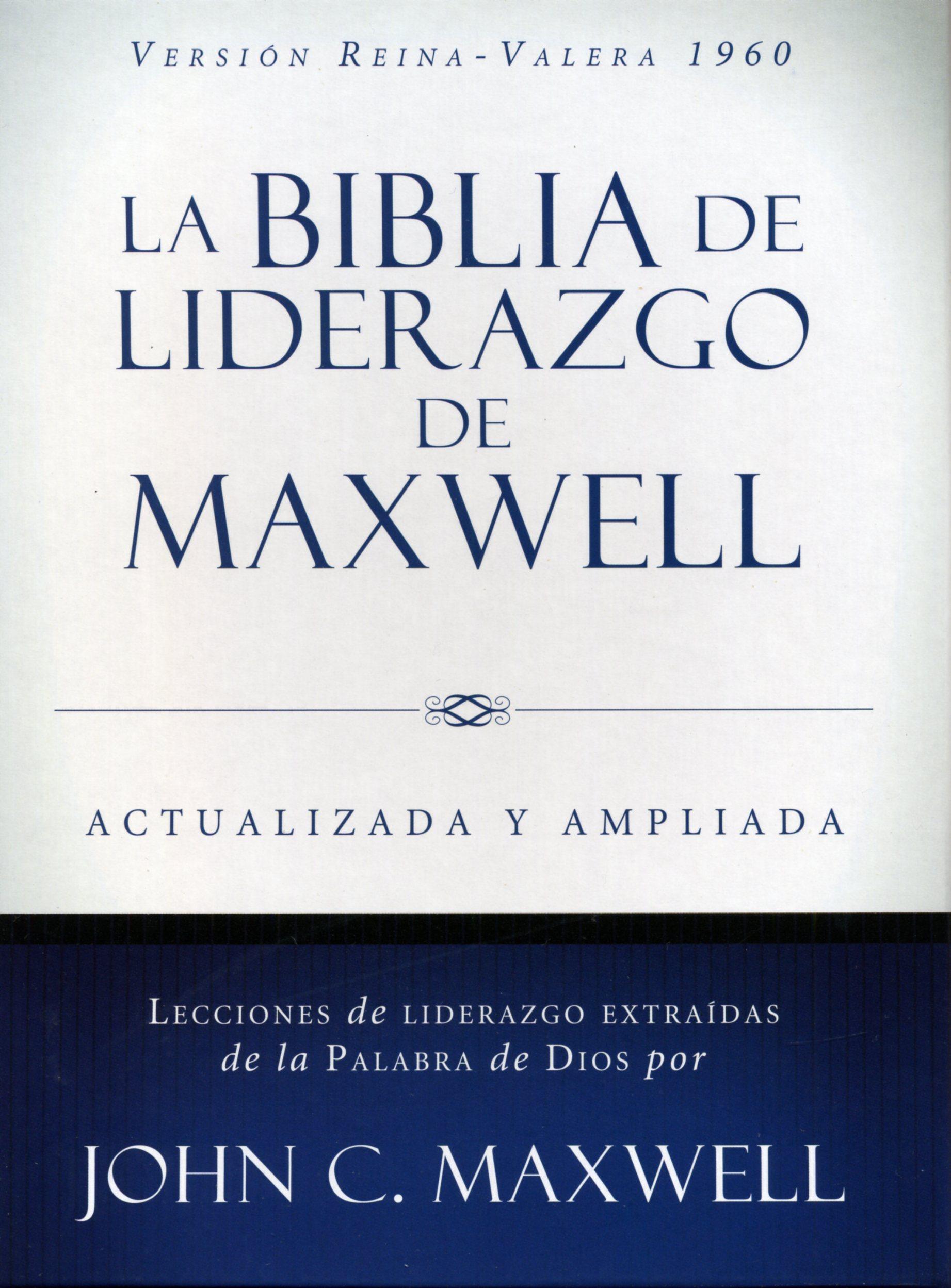Biblia De Liderazgo De Maxwell Tamaño Manual Reina Valera 1960 9780718092559 Clc Colombia