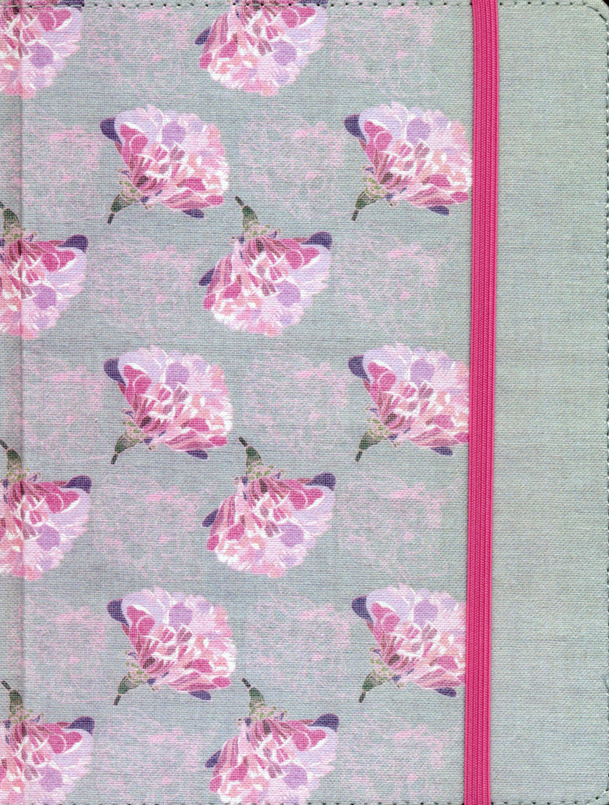Biblia de Apuntes Gris Flores