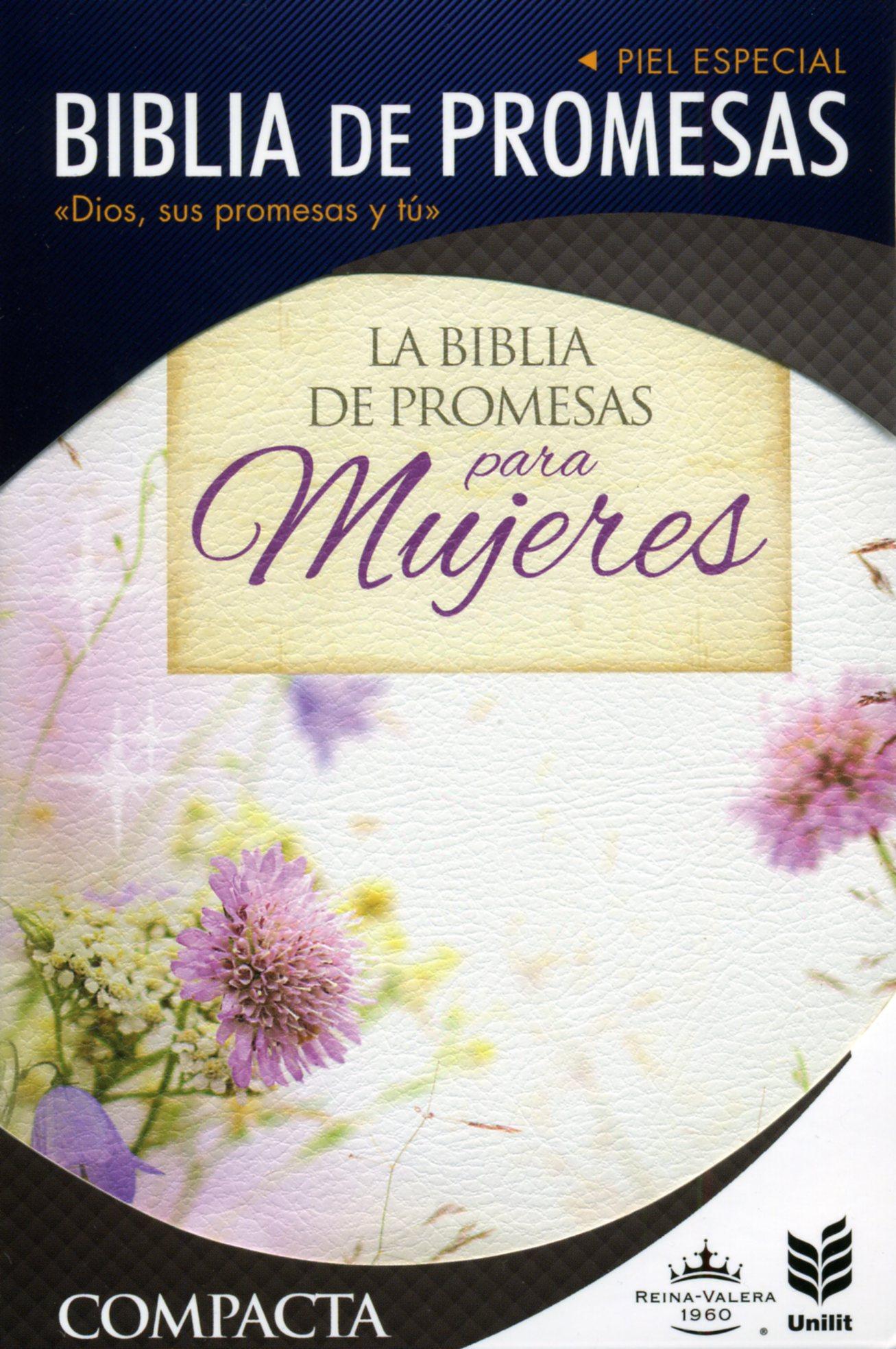 Biblia De Promesas Compacta Floral-Piel Especial