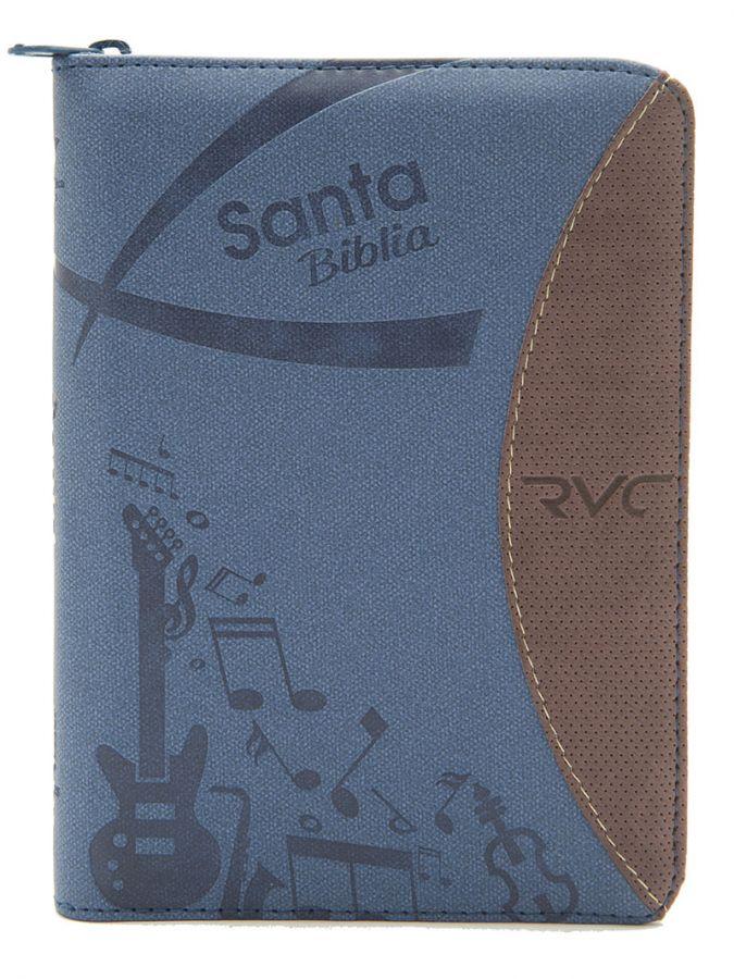 Biblia Tamaño 045 Azul Vinotinto Palabras De Jesús En Rojo