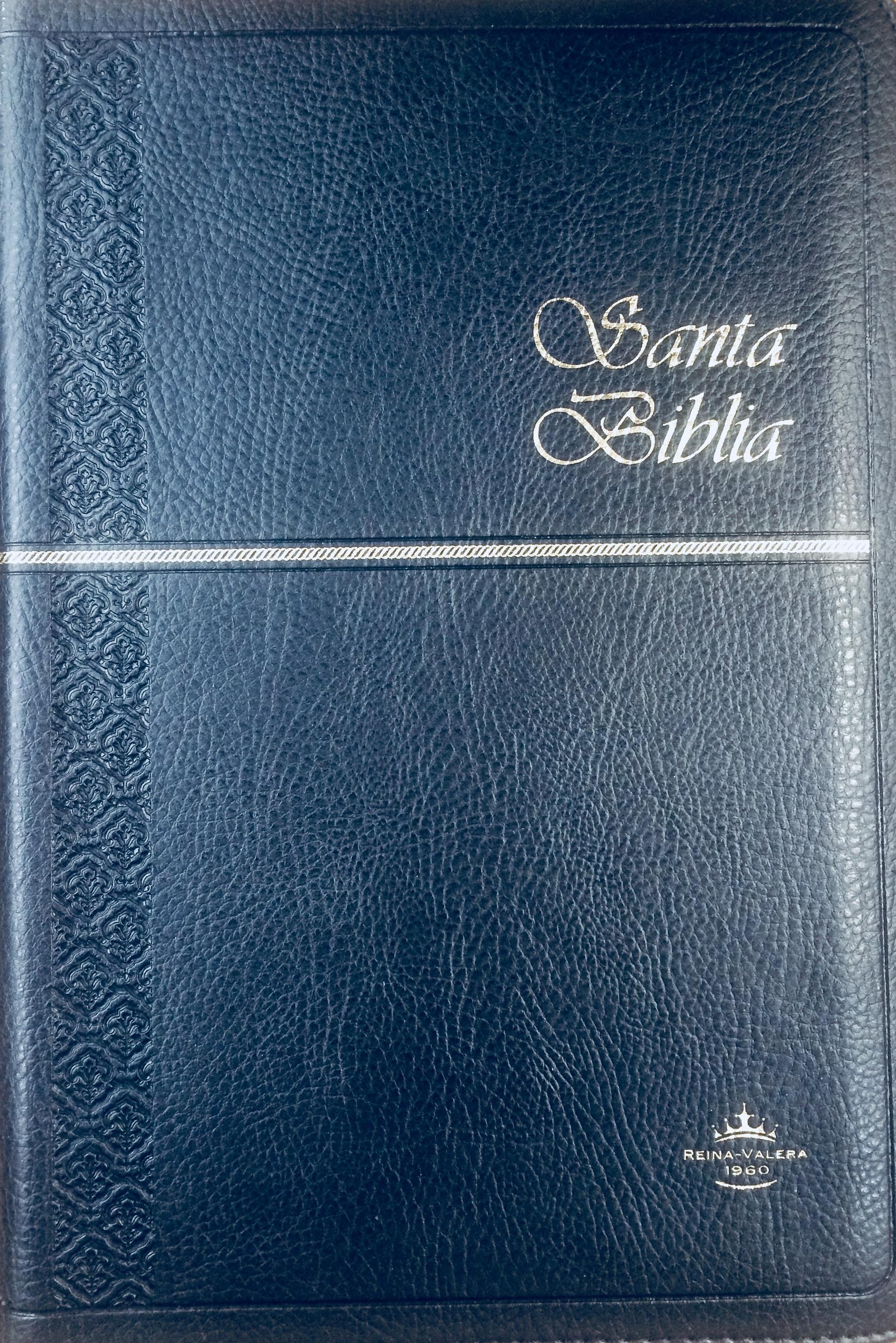 Biblia RVR60 Semifina Cierre Indice Azul Oscuro