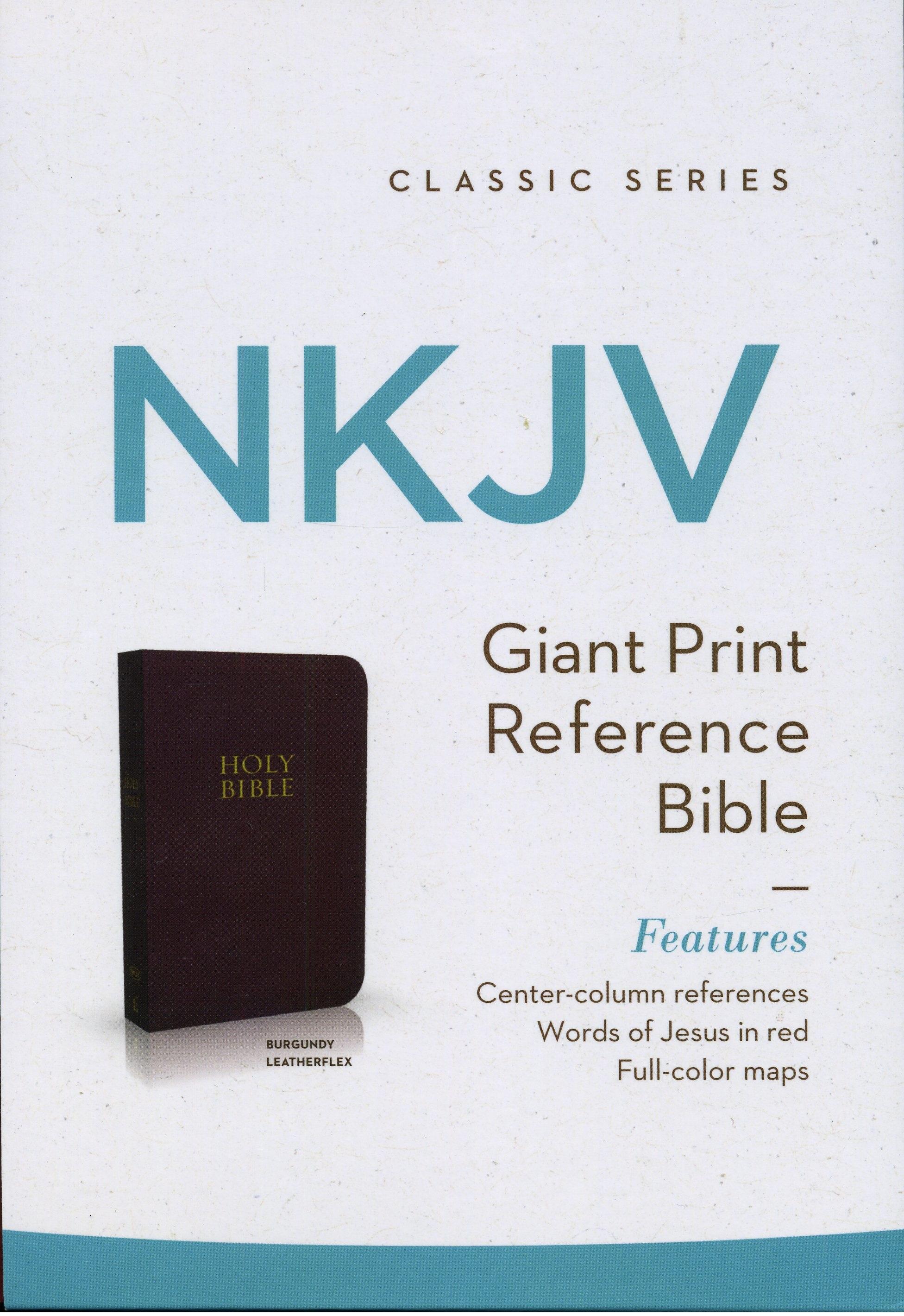 Biblia en Inglés NKJV Letra Grande