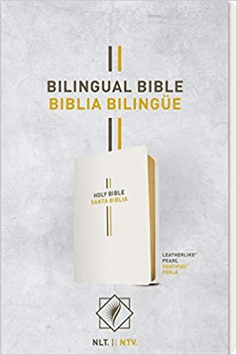 Biblia Bilingüe Imitación Piel  Perla