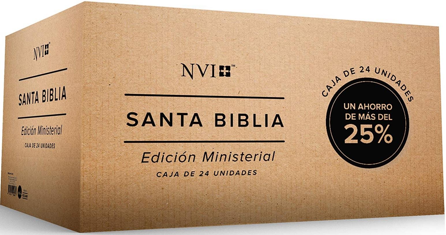 Caja Biblia Edición Ministerial Por 24 Unidades